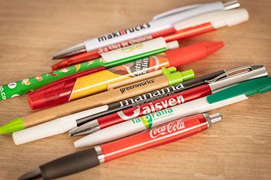 bolígrafos merchandising